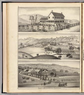 Infirmary at Fairfield, Solano County, Cal. Residence of W.J. Pleasants, Pleasants Valley, Solano Co., Cal. Residence of Frank Williams, Vacaville, Solano County, Cal. (Thompson & West, San Francisco, Cala., 1878)