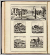 Residence & grounds of J.W. Jones, Esq., Benicia ... Residence of D.L. Mann, Dixon, Cal. Residence of W.B. Towson, Vacaville ... St. Dominics Monastery, Benicia ... H.D. Tisdale's residence, Suisun ... (Thompson & West, San Francisco, Cala., 1878)