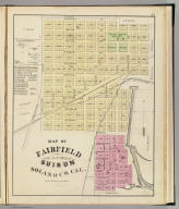 Map of Fairfield and Suisun, Solano County, Cal. (Published by Thompson & West, San Francisco, Cala, 1878)