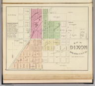 Map of Dixon, Solano Co., Cal. (Published by Thompson & West, San Francisco, Cala, 1878)