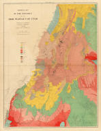 Geological map of the district of the high plateaus of Utah. Triangulation by A.H. Thompson, topographers J.H. Renshawe, W.H. Graves. Geology by Capt. C.E. Dutton, U.S.A. Dept. of the Interior, U.S. G. and G. Survey, J.W. Powell in charge. Atlas sheet no. 2, Geology of the high plateaus of Utah by Capt. C.E. Dutton, U.S.A. (Julius Bien, Lith., New York, 1879)