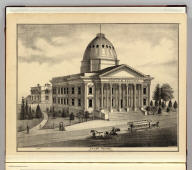 Court House, Santa Clara Co., at San Jose, Cal. E.S. Moore, del. (Published by Thompson & West, San Francisco, 1876)