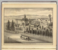Infirmary, Santa Clara County, Cal. (Published by Thompson & West, San Francisco, 1876)