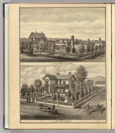 Res. of Prof. J.H.L. Tuck, cor. San Fernando & Eleventh sts., San Jose, Cal. C.L. Smith, del. Res. of Wm. H. Hall, cor. First & St. James sts., San Jose, Cal. E.S. Moore, del. (Published by Thompson & West, San Francisco, 1876)