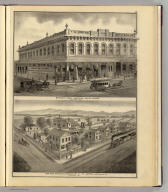 Spring's great American cheap store, San Jose, Cal. San Jose Brewery & residence of Ph. Doerr, cor. 4th & Williams sts., San Jose, Cal. (Published by Thompson & West, San Francisco, 1876)