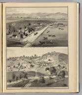 Ranch of D. & T. Williams of Williams Bros., San Jose, Cal. Goodrich's Free Stone Quarry, on Almaden Road, 8 miles south of San Jose, Cal. (Published by Thompson & West, San Francisco, 1876)