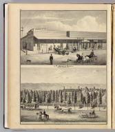 J.R. Arques' block, Santa Clara, Cal. Res. of the late Hon. C.P. Hester, San Jose, California. (Published by Thompson & West, San Francisco, 1876)