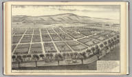 """""""Poplar City"""" connecting the cities of San Jose and Santa Clara, cal. Owned by Moses Davis and W.S. Chapman ... (Published by Thompson & West, San Francisco, 1876)"""