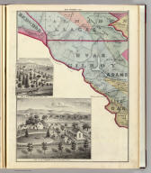 (Farm) map number ten (Santa Clara Co., California). (with view) Res. of C.H. Lapham, Santa Clara, Cal. (with view) Res. of N.J. Haines, Almaden Tp., Santa Clara Co., Cal. (Published by Thompson & West, San Francisco, Cala. 1876)