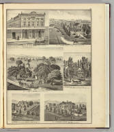 Rea Block ... San Jose, Cal. Res. of Alfred Chew, Evergreen ... Res. of Geo. H. Briggs, Mountain View ... J.E. Rucker ... San Jose ... J.E. Brown ... San Jose ... Res. of Theodore Lenzen, architect, San Jose ... (Published by Thompson & West, San Francisco, 1876)