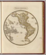 Western Hemisphere. By Sidney Hall. London, published by Longman, Rees, Orme, Brown & Green, Paternoster Row, August 1, 1829.