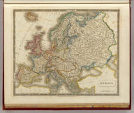 Europe. By Sidney Hall. London, published by Longman, Rees, Orme, Brown & Green, Paternoster Row, Feby. 1, 1828.