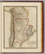 Chili, La Plata, and Bolivia or Upper Peru by Sidney Hall. London, published by Longman, Rees, Orme, Brown & Green, Paternoster Row, Feby. 1, 1829.