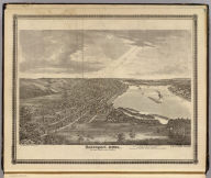 Davenport, Iowa, as seen from south west. Andreas Atlas Co. Chas. Shober & Co. props., Chicago Lith. Co. (1875)