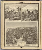 Council Bluffs, Iowa from north; residences in E. Des Moines & Council Bluffs.
