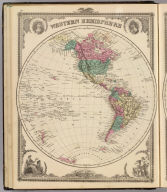 Western Hemisphere. (Published by the Andreas Atlas Co., Lakeside Building, Chicago, Ills. Engraved & printed by Chas. Shober & Co., Props. of Chicago Lithographing Co.)