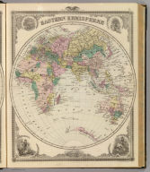 Eastern Hemisphere. Chas. Shober & Co., props., Chicago Lith. Co. (Published by the Andreas Atlas Co., Lakeside Building, Chicago, Ills. Engraved & printed by Chas. Shober & Co., Props. of Chicago Lithographing Co.)