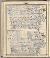 Maps of the State of Iowa showing representative districts, senatorial districts.