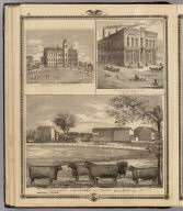 Residence, West Liberty; College, Decorah; and Building, W. Des Moines, Iowa.