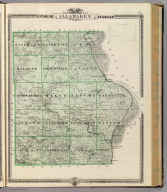 Map of Allamakee County, State of Iowa.
