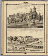 Residences of M.M. Conger and G.W. Harrison, Adams Tp., Dallas Co., Iowa.