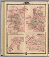 Plans of Cedar Falls, Waterloo, Hopkinton and La Porte City, Iowa.