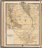 Map of Bremer County, State of Iowa. (with) Plan of Waverly, Bremer Co. Chas. Shober & Co., props., Chicago Lith. Co. (Published by the Andreas Atlas Co., Lakeside Building, Chicago, Ills. Engraved & printed by Chas. Shober & Co., Props. of Chicago Lithographing Co.)