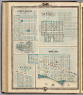 Plan of Sioux Rapids, Buena Vista Co. (with) Plan of Onawa ... Monona Co., (with) Plan of Storm Lake, Buena Vista Co. (with) Plan of Newell, Buena Vista Co. (with) Plan of Earlville, Delaware Co. Chas Shober & Co., props., Chicago Lith. Co. (Published by the Andreas Atlas Co., Lakeside Building, Chicago, Ills. Engraved & printed by Chas. Shober & Co., Props. of Chicago Lithographing Co.)