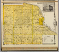 Map of Dubuque County and view of Lorimier House, Dubuque, Iowa.