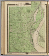 Plan of Dubuque, Dubuque County, State of Iowa. Chas. Shober & Co., props., Chicago Lith. Co. (Published by the Andreas Atlas Co., Lakeside Building, Chicago, Ills. Engraved & printed by Chas. Shober & Co., Props. of Chicago Lithographing Co.)