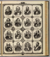(Portraits of) E.G. Potter, Delano T. Smith, William Smythe, et al.