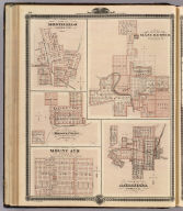 Plans of Monticello, Manchester, Missouri Valley, Mount Ayr and Anamosa.