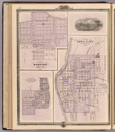 Plan of Iowa City, Plan of Marengo, Plan of Le Claire.