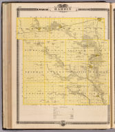 Map of Hardin County, State of Iowa.