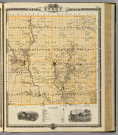 Map of Story County, State of Iowa.