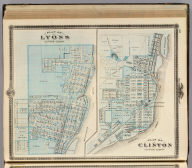 Plans of Lyons and Clinton, Clinton County, State of Iowa.