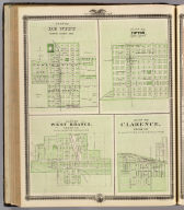 Plans of DeWitt, Tipton, West Branch and Clarence, State of Iowa.