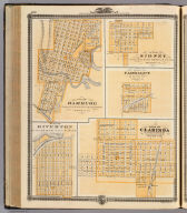 Plan of Hamburg ... Fremont Co. (with) Plan of Sidney ... Fremont Co. (with) Plan of Farragut ... Fremont Co. (with) Plan of Riverton ... Fremont Co. (with) Plan of Clarinda ... Page Co., State of Iowa. Chas. Shober & Co., props., Chicago Lith. Co. (Published by the Andreas Atlas Co., Lakeside Building, Chicago, Ills. Engraved & printed by Chas. Shober & Co., Props. of Chicago Lithographing Co.)