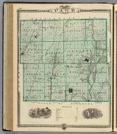 Map of Page County, State of Iowa.