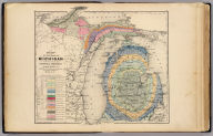 Map of the State of Michigan colored to show the geological formations by Alexander Winchell, LL.D., Chancellor of the University of Syracuse, late State Geologist of Michigan, etc. (Drawn, compiled, and edited by H.F. Walling, C.E. ... Published by R.M. & S.T. Tackabury, Detroit, Mich. Entered ... 1873, by H.F. Walling ... Washington. The Claremont Manufacturing Company, Claremont, N.H., Book Manufacturers)