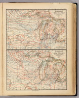 Climatology of Michigan by Alex. Winchell. Isothermals January, July. Isothermals summer, winter. The Calvert Lith. Co., Detroit. (Drawn, compiled, and edited by H.F. Walling, C.E. ... Published by R.M. & S.T. Tackabury, Detroit, Mich. Entered ... 1873, by H.F. Walling ... Washington. The Claremont Manufacturing Company, Claremont, N.H., Book Manufacturers)