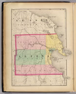 (Map of Alpena County, Michigan. Drawn, compiled, and edited by H.F. Walling, C.E. ... Published by R.M. & S.T. Tackabury, Detroit, Mich. Entered ... 1873, by H.F. Walling ... Washington. The Claremont Manufacturing Company, Claremont, N.H., Book Manufacturers)