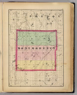 (Map of Montmorency County, Michigan. Drawn, compiled, and edited by H.F. Walling, C.E. ... Published by R.M. & S.T. Tackabury, Detroit, Mich. Entered ... 1873, by H.F. Walling ... Washington. The Claremont Manufacturing Company, Claremont, N.H., Book Manufacturers)