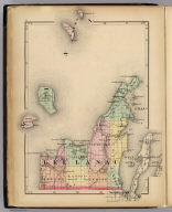 (Map of Leelanau County, Michigan. Drawn, compiled, and edited by H.F. Walling, C.E. ... Published by R.M. & S.T. Tackabury, Detroit, Mich. Entered ... 1873, by H.F. Walling ... Washington. The Claremont Manufacturing Company, Claremont, N.H., Book Manufacturers)