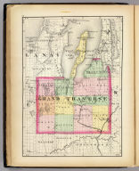 (Map of Grand Traverse County, Michigan. Drawn, compiled, and edited by H.F. Walling, C.E. ... Published by R.M. & S.T. Tackabury, Detroit, Mich. Entered ... 1873, by H.F. Walling ... Washington. The Claremont Manufacturing Company, Claremont, N.H., Book Manufacturers)