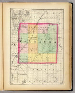 (Map of Kalkaska County, Michigan. Drawn, compiled, and edited by H.F. Walling, C.E. ... Published by R.M. & S.T. Tackabury, Detroit, Mich. Entered ... 1873, by H.F. Walling ... Washington. The Claremont Manufacturing Company, Claremont, N.H., Book Manufacturers)