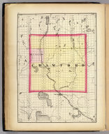 (Map of Crawford County, Michigan. Drawn, compiled, and edited by H.F. Walling, C.E. ... Published by R.M. & S.T. Tackabury, Detroit, Mich. Entered ... 1873, by H.F. Walling ... Washington. The Claremont Manufacturing Company, Claremont, N.H., Book Manufacturers)