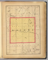 (Map of Oscoda County, Michigan. Drawn, compiled, and edited by H.F. Walling, C.E. ... Published by R.M. & S.T. Tackabury, Detroit, Mich. Entered ... 1873, by H.F. Walling ... Washington. The Claremont Manufacturing Company, Claremont, N.H., Book Manufacturers)