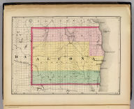 (Map of Alcona County, Michigan. Drawn, compiled, and edited by H.F. Walling, C.E. ... Published by R.M. & S.T. Tackabury, Detroit, Mich. Entered ... 1873, by H.F. Walling ... Washington. The Claremont Manufacturing Company, Claremont, N.H., Book Manufacturers)