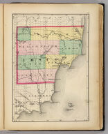 (Map of Iosco County, Michigan. Drawn, compiled, and edited by H.F. Walling, C.E. ... Published by R.M. & S.T. Tackabury, Detroit, Mich. Entered ... 1873, by H.F. Walling ... Washington. The Claremont Manufacturing Company, Claremont, N.H., Book Manufacturers)